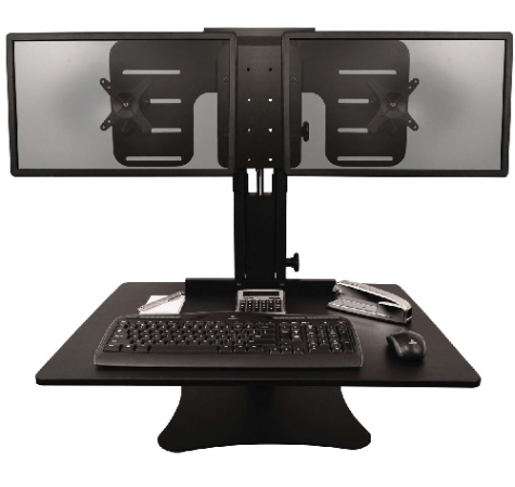 Victor Technology High Rise Dual Monitor Sit Stand Desk