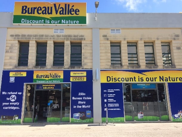 Double digit growth for bureau vallée in opi office